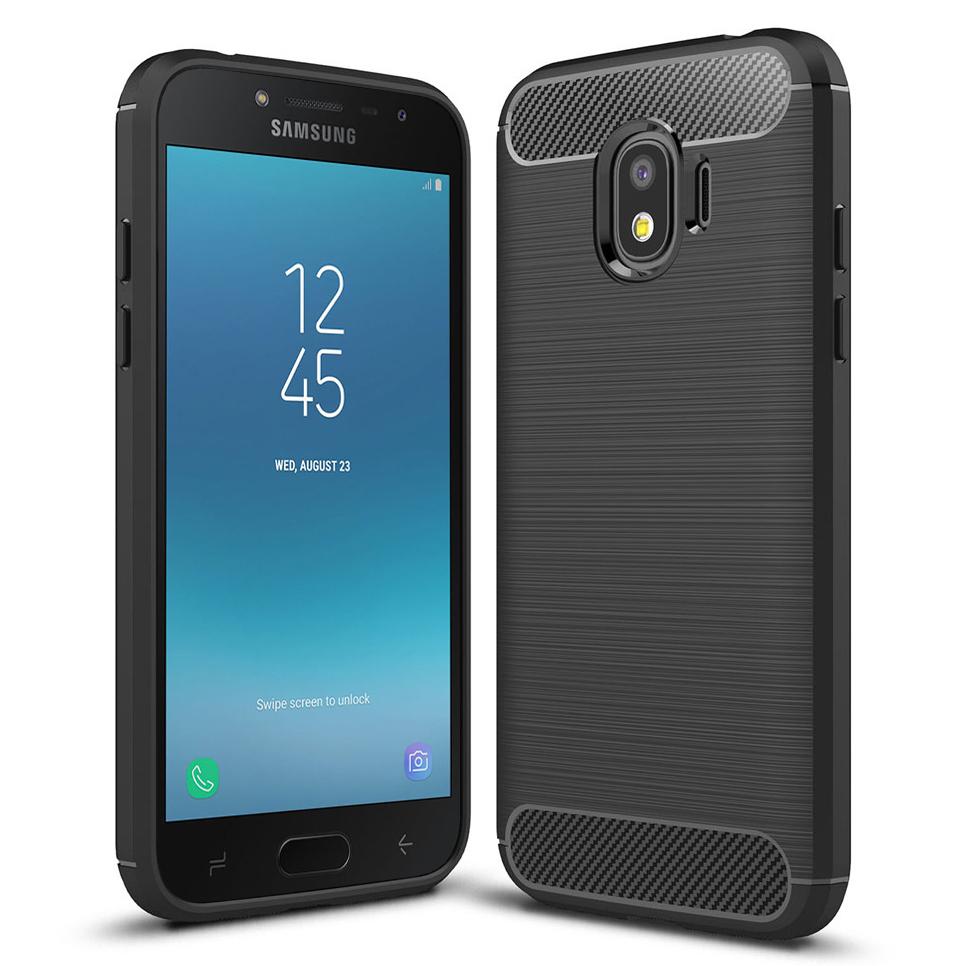 buy online 53b73 d8e52 Flexi Carbon Fibre Case - Samsung Galaxy J2 Pro (2018) - Black